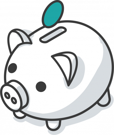 Bookkeeping Support Piggy Bank Icon Illustration