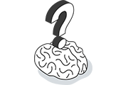 Brain with Question Mark Icon