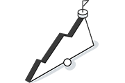 Chart with goal icon