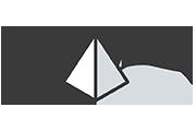 Pyramid icon with arrows
